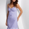 Fun_29001_NDK_pf_rdax_185x262.jpg - Noční košile<br />Young spaghetti strap nightdress in knitted horizontal stripes with keyhole neckline. Joined hem facing and spaghetti straps with frilled edging in knitted thin stripes.